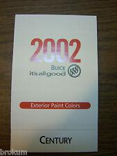 MINT 2002 BUICK EXTERIOR PAINT COLORS CENTURY NEW