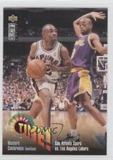 1995-96 #360 Playoff Time! San Antonio Spurs vs Los Angeles Lakers Team Card