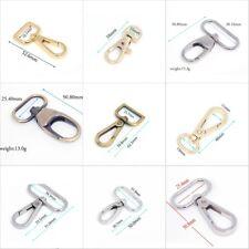 2/10/20 Metal Lobster Clasps Clips Handbag Bag Hooks Swivel Snap Buckle Trigger
