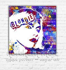 BLONDIE DEBBIE HARRY - PRINT ON CANVAS FRAMED - Music Wall Art - Choose Size