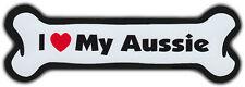 Dog Bone Magnet: I LOVE MY AUSSIE | Dogs Doggy Puppy | AUSTRALIAN SHEPHERD