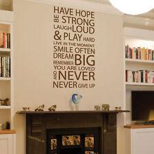 AMORE Famiglia hanno speranza ARTE Muro preventivi/Adesivi Da Parete/Adesivi Murali
