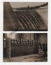 VERNON VT Hydro Dam Power Plant Room 1909 Real Photo Postcards Connecticut River