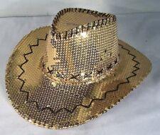 GOLD SEQUIN COWBOY HAT western hats dance party items