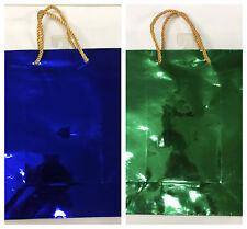Buste di Natale natalizie in carta sacchetti metallizzati pacco regalo 26x22 cm