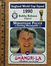 MERSEYSIDE Police England World Cup 1990 football card - VARIOUS