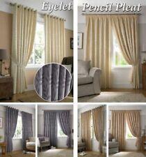 rideaux tissés jacquard feuille entièrement doublé oeillet ou accroche plissée