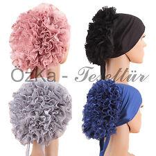 BONE Bonnet Cap Kopftuch Bandana Hijab Tesettür Rüschen firfirli Islam Turban
