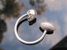 Tiffany & Co Silver Football Helmet Key Ring Key Chain!