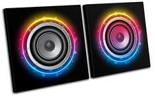 Speakers DJ Club MULTI CANVAS WALL ART Picture Print VA