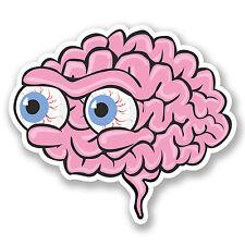 2 X Globo Ocular cerebros pegatina de vinilo Ipad Laptop Patineta Casco Zombie Fun # 4622