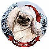 Holiday Pet Gifts Norwich Terrier Black/Tan Dog Santa Hat Porcelain Ornament