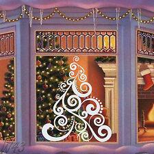 Feliz Navidad árbol Nuevo Años Gran Arte De Vinilo De Adhesivo Para Ventana O Pared
