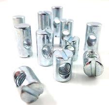 Da 14 mm 20mm e 25mm Furniture Barrel NUTS-utilizzare con bulloni mobili-LETTINO, LETTO