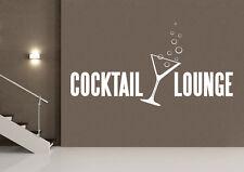 Wandaufkleber: Cocktail Lounge - Theke Tresen Deko Hobbyraum Bar Glas WandTattoo