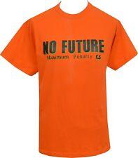MENS ORANGE T-SHIRT NO FUTURE SEDITIONARIES 1977 ORIGINAL LONDON PUNK ROCK 1977