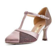 """donna luccicante di Gruppo Stanza da ballo Scarpe 2.5 """" tacco rosa Topline KATZ"""