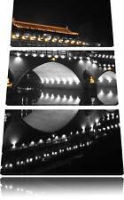 prächtige chinesische Brücke  3-Teiler Leinwandbild Wanddeko Kunstdruck
