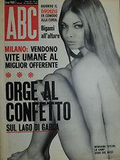 """"""" ABC : N° 51 / 18/DIC/1966 - MORGANA TAYLOR - al verso SILVIE BREAL """""""