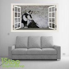 Banksy Niña Pegatina Pared Ventana Color Completo- Salón Dormitorio City Arte