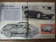 ARTICOLO SIMCA ABARTH 1300    -  1962