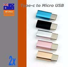 2xAluminum USB 3.1 Type-C Male to Micro USB Female Converter USB-C Cable Adapter