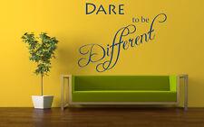 Osano essere diverse Citazione Vinile Muro ARTE Adesivo, Murale, decalcomania. Home Wall Decor