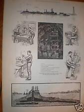 USA la preparazione per far esplodere Hell Gate NEW YORK 1885 stampa