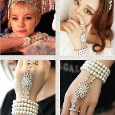 1920s Wholesale Great Gatsby Flapper Pearl Bracelet Dress Cuff Bangle Accessory