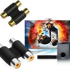 Conector hembra RCA hembra a hembra Conector de adaptador de cable AV de audio