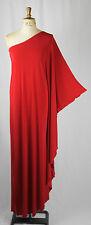 Baylis y caballero Rojo Jersey Studio 54 Maxi Largo Glam 70's alas de murciélago Vestido Discoteca