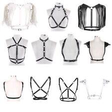 Sexy Women Body Adjustable Harness PU Leather Chest Harness Belt Shoulder Tassel