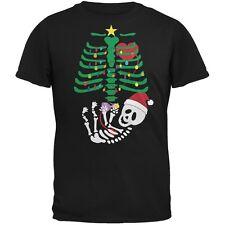 Christmas Tree Baby Skeleton Doll Black Adult T-Shirt