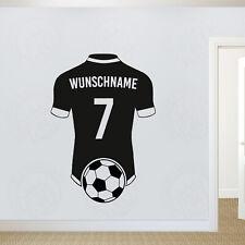 Wandtattoo Fussball Trikot mit Wunschtext Kinderzimmer Wandsticker Kicker Sport