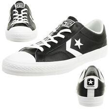Converse Star Player Ox zapatos zapatillas de cuero negro 159780c