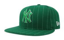 New Era 59Fifty Cap MLB New York Yankees Mens Womens Adult Green Pinstripe Hat
