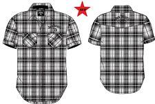 Jack Daniels Plaid Embroidered Western Cowboy Shirt Licensed product JDss7