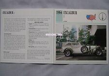 Excalibur II Collectors Classic Car Card
