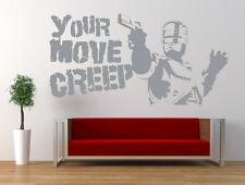 Robocop película cita, Vinilo Pared Adhesivo Mural,, Película, Calcomanía. la transición fluencia