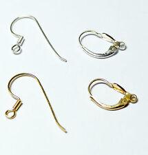 Klappbrisur Ohrhaken Fischerhaken Ohrringe 925er Silber oder vergoldet, 2 Stück