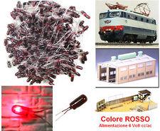 SET N.10 LAMPADINE ad INCANDESCENZA MM.03 LUCE ROSSA 6V per SCALA-N e SCALA-HO