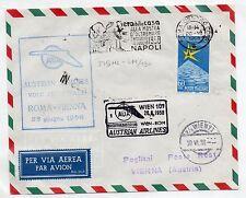 1958 REPUBBLICA POSTA AEREA VOLO AUA ROMA-VIENNA B/6781