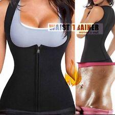 Women's Neoprene Sauna Sweat Waist Trainer Vest With Zipper For Weight Loss Gym