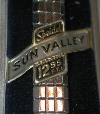 """NOS Antique SPEIDEL Sun Valley 10k White Gold GF Watch Band & Box 3/8"""" #SP4"""