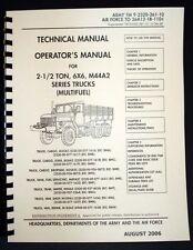 Cargo Truck M44A2 M35A2 M36A2 M35A2C M49A2C M50A3 M109A3 M185A3 Op Manual