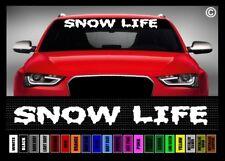 "40"" Snow Life Ski Snowboard Snowmobile Car Decal Sticker Windshield Banner"