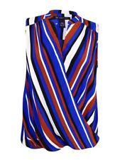 INC International Concepts Women's Plus Size Striped Surplice Top