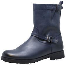 Gallucci 5070 Mädchen Damen Stiefeletten Stiefel Boots Leder Blau 35 - 41 Neu