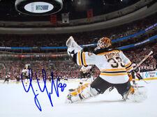 Tim Thomas Boston Bruins signed net cam  16x20