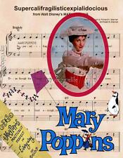Mary Poppins Supercalifragilisticexpialidocious 3 sizes Quilting Fabric Block